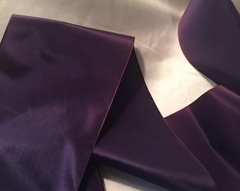 Wide Ribbon, Vintage Dark Purple Ribbon, Vintage Indigo Ribbon, Vintage Rayon Ribbon, Vintage Ribbon, Taffeta Ribbon
