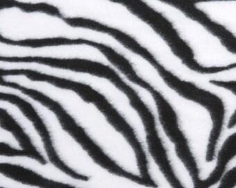 Zebra Tie-Knot Fleece Blanket PERSONALIZED
