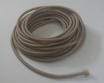 Elastic Draw String, 3 mm. Diameter, Brown, Elastic Cord, Round Elastic Cord, 10 Yards (9 Meters) Long.