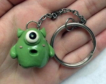 Cute Green Monster Keychain
