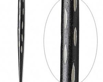 "Bone Hair Stick, Black Hair Stick, 4.5"" long, 2 each, D699"