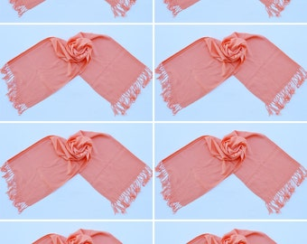 8 PEACH PASHMINA,pashmina scarf,pashmina shawl,bridesmaid shawls,Pashmina Wedding,scarf, shawl, scarves 015