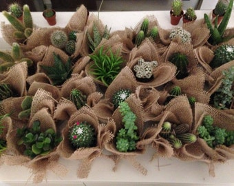 Country chic wedding favors