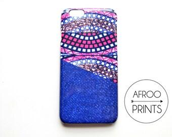 AFROOPRINTS. African Wax XVII print iPhone case