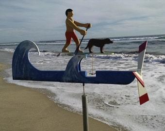 Paddling with a Dog Whirligig