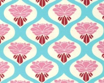 Rose in Sky Tanya Whelan Floral Chloe Cotton Fabric Free Spirit Fabric per fat quarter per metre FQ