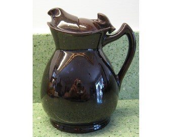 "Rare ""Cosy"" or ""Perfect"" Teapot by Woods, 1920s patented non-drip design, treacle glazed"