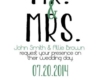 Modern Wedding Invitation - Customizable & Digital File