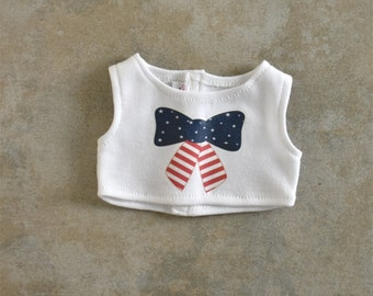 Graphic cropped  top American Handmade Girl Doll Clothes