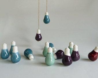 mini porcelain bulb cordpull