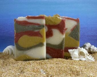 Clay Soap  / Mini Soap, Unscented Soap, Exfoliating Soap, Natural Soap, Face Soap, Cold Process Soap, Favor Soap, Rose Clay Soap