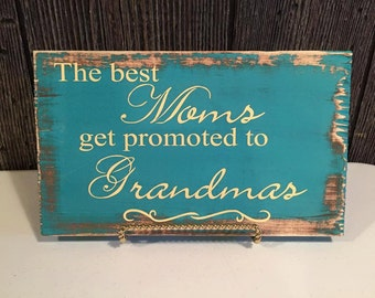Best mom promoted teal & brown