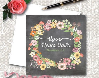 Love Never Fails Greetings Card - NWT - JW Gift,