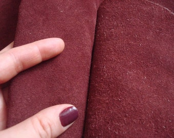 Suede Leather Hides Solid piece of suede Natural material Marsala
