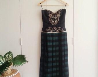 SALE - Vintage Dress - Retro Fashion - Vintage Clothing - 80s - 80s Fashion  - Green Dress - Special Occasion Dress