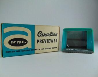 REDUCED - Vintage Argus Previewer Slide Viewer For Colored Slides w/ Original Box