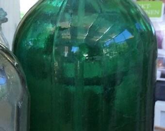 vintage siphon / 60ies siphon - blue glass