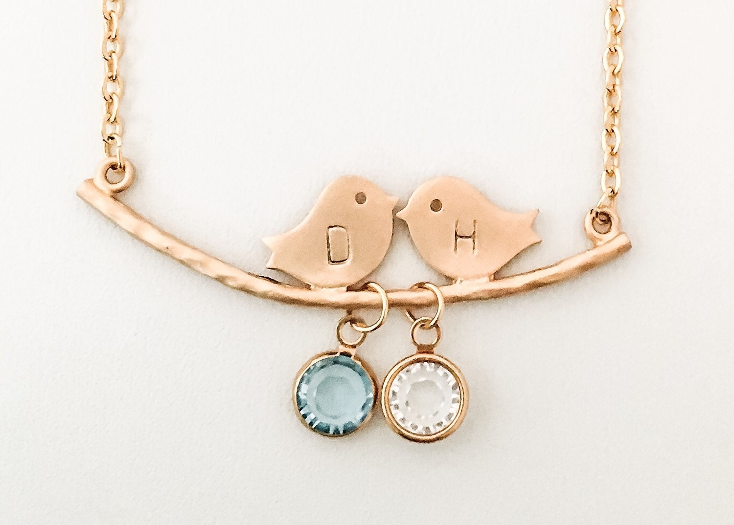 Gold Lovebird Necklace Couple Necklace Gift for