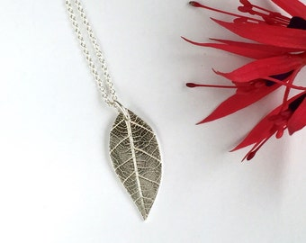Realistic Silver Leaf Pendant