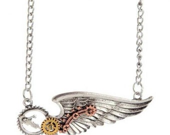 Mechanical Wing Necklace