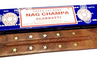 Nag Champa Incense sticks with Buddha incense holder.