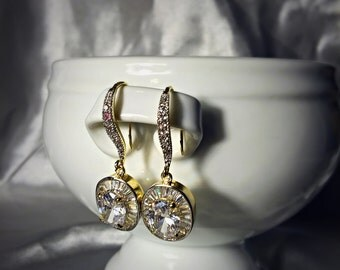 Simple, Elegant, Wedding Earrings, Lightweight Earrings, Bridal, Bridesmaids, Elegant, Chandelier Earrings, Free shipping, Gift box