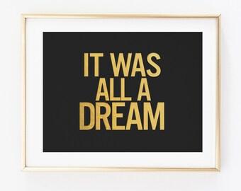 Gold Foil - It Was All A Dream, Biggie Art - Juicy Lyrics