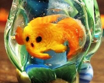 Lampwork Aquarium Goldfish bead
