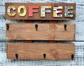 coffee cup holder, rustic coffee cup rack, kitchen coffee mug holder, wall hanging coffee cup rack, pallet wood coffee rack, wood cup holder