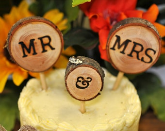 Rustic Cake Topper Wedding Toppers