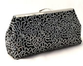 Black and Silver Squin Cocktail Clutch ~ Black Purse ~ Black Evening Bag ~ Black Travel Tote ~ Black Handbag ~ Small Black Clutch
