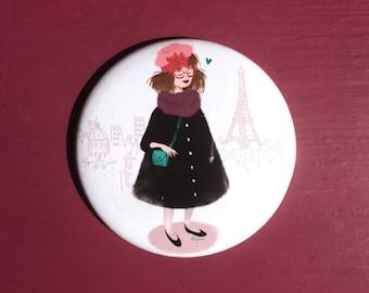 Girl in Paris - Pocket mirror
