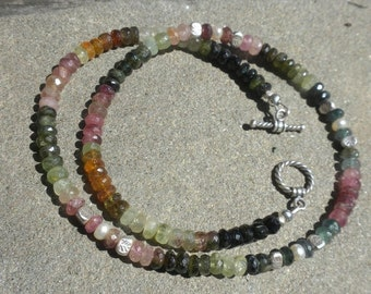 ON Sale Tourmaline and Silver Necklace