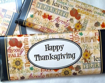 Thanksgiving Favors, Happy Thanksgiving Candy, Thanksgiving Table Decor, Fall Party Favors, Thanksgiving Party, Fall Decor, 24 ct