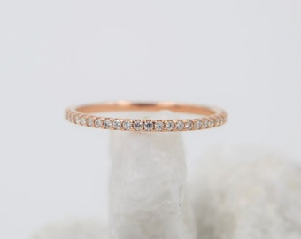 Eternity cz stackable band ring. Cz stacking ring. Silver band ring. Cz eternity silver ring. Gold cz eternity band ring. Rose gold ring.