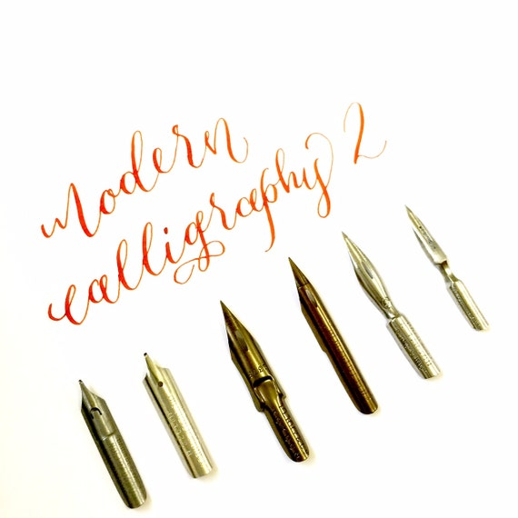 Modern calligraphy nibs series from thecalligraphymarket