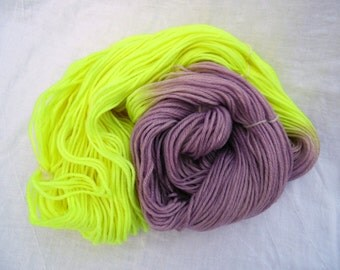Yellow/Purple - Color Opposites - DK- Hand-Dyed / Hand-Painted Yarn - Superwash Wool - Ready to Ship