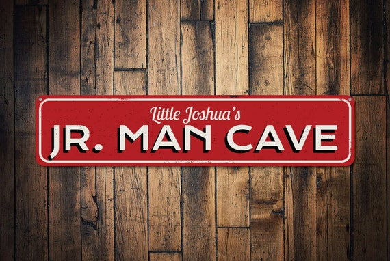 Man Cave Names : Jr man cave sign personalized child name room custom