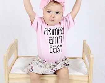 Primpin' ain't easy / Toddler shirt / Toddler girl tee / Graphic tee / Baby shirt / Baby tee / Funny shirt