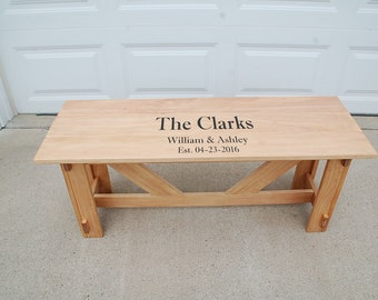Wedding Guestbook Bench