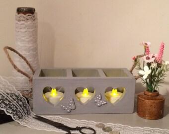 Hand painted Tea light holder, Bud Vase Holder, Decorative