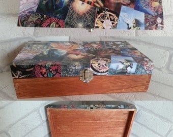 unique handmade pagan/wiccan inspired box