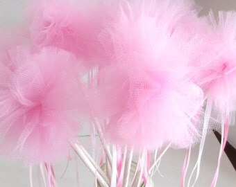 Fairy Wands, Fairy Party Favor, Pink, Set of 8