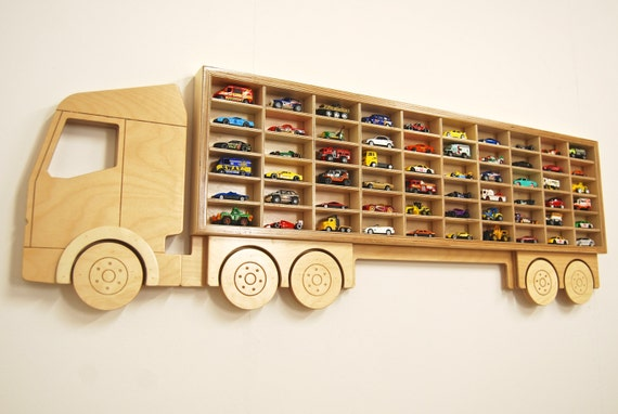 Toy Car 'Truck' Shelf, Model Car Shelving Unit, Lorry shaped Cubby ...