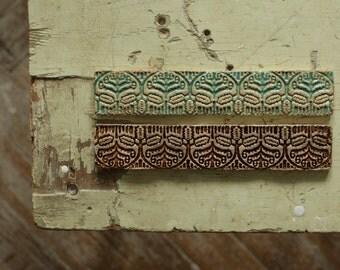 Oak Leaf Rustic Ceramic Border Tile for Kitchen/Bathroom Backsplash