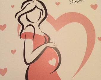 Such wonderful news / pregnancy card