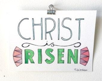 Christ is Risen/Original Watercolor painting