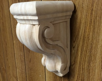 "10"" unfinished wooden corbel"