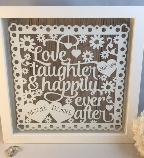 Wedding gift. Love quote. Love frame. Love,laughter and Happily ever ...