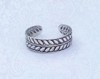 Sterling Silver Vine Toe Ring